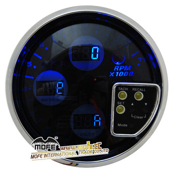 Black color 4 in 1 auto engine meter tachometer for cars