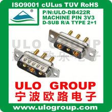 d-sub 15p male with screw 90 degree connector ULO 022