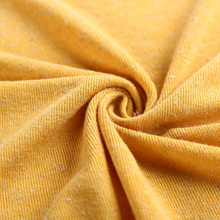 China textile soft pure color elastic hacci linen brushed knit fabric clothing