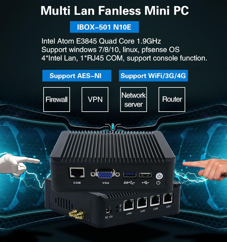 mini pc fanless multi lan