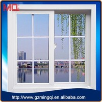Low-e glass PVC casement window glass window replacement with grilled