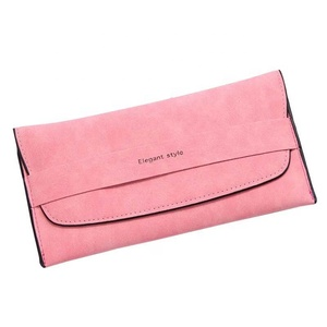 Women gender 2018 New design soft pu leather fashion women folded wallet factory wholesale