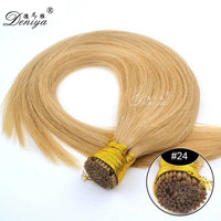 stick i tip pre-bonded honey blonde human hair extensions indian