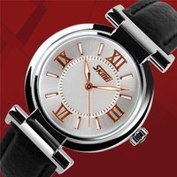 China Wholesale Cheap Leather Strap Ladies Bracelet Wrist Watch