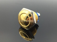 CE ROHS 16mm mini waterproof push button reset gold plated switch screw