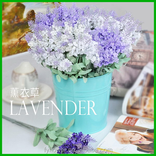 new business ideas factory wholesale artificial lavender bush for party and interior decoration