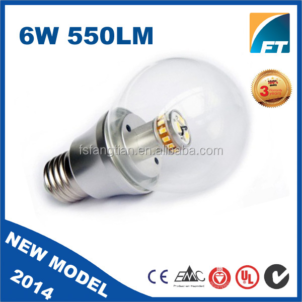 high power led bulb SMD 3020 E26 E27 B22 6w LED Dimmable led display