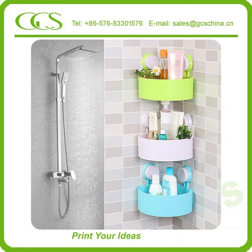 furniture cornor shelf support three rail single glass shelf bathroom shower organiser