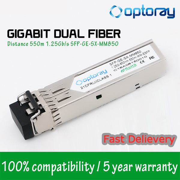 SFP-DUAL-MM Alcatel-Lucent Compatible Multi mode Dual Speed 100Base-FX or 1000Base-X Ethernet SFP optical transceiver