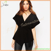 Eco-friendly Comfortable Soft-touch Crepe Wholesale Heavy Work Blouses