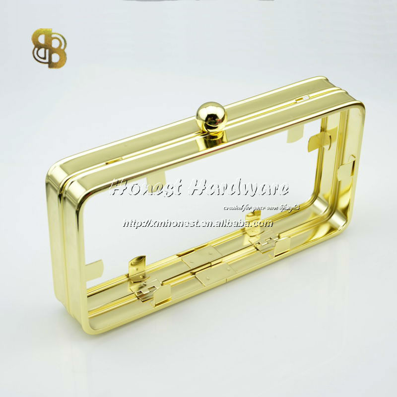clutch bag metal frame