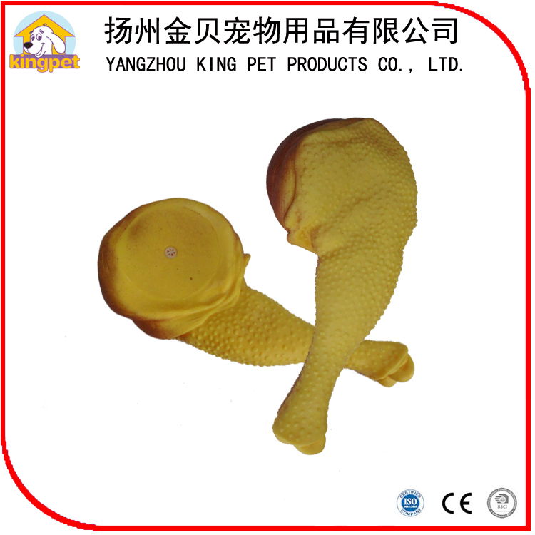 Top quality color singing squeaky rubber latex chicken dog toy for training