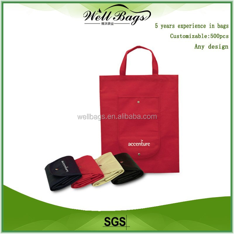 Cheap custom folding bag, shopping bag,foldable bag