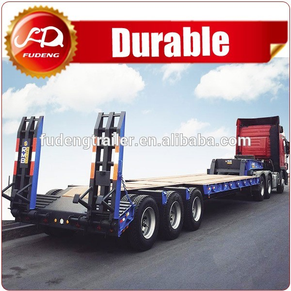 China tri-axle 60T heavy duty boat trailers for sale