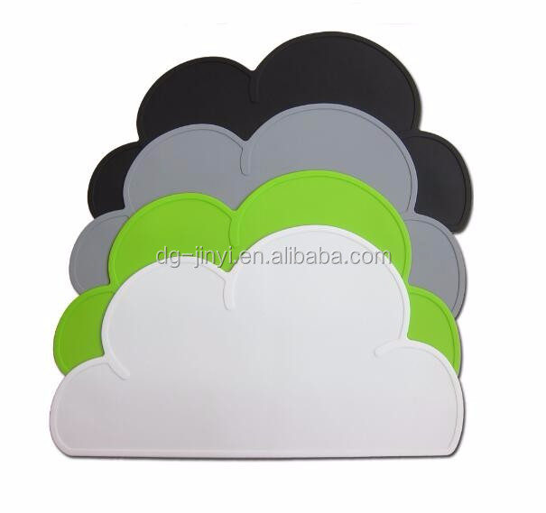 cloud shaped rubber table mats kids table mats baby table mat
