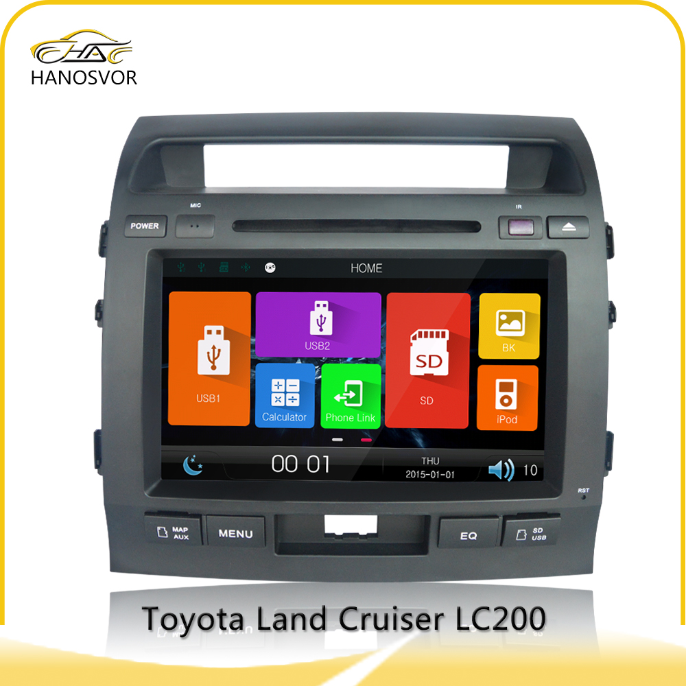9 inch toyota land cruiser 200 car radio with gps New product premium quality vintage HOT led cheap price