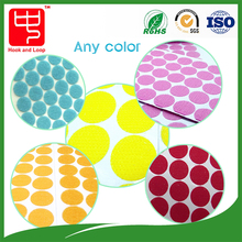 Colorful Strong power 3m self adhesive hook and loop round dots