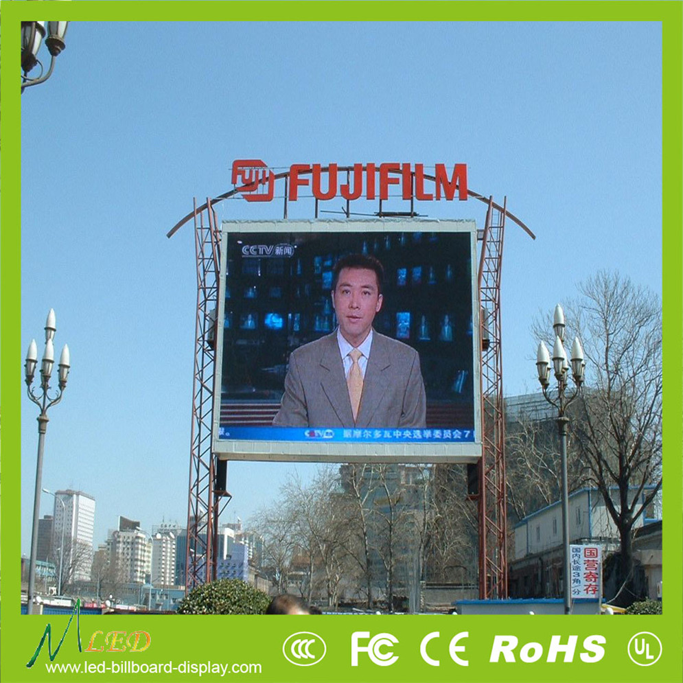 P10 led advertising wall Water-proof test outdoor led video board