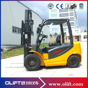 Ac Motor Mini Four Wheels Electric Forklift Truck