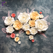 New design high quantity artificial paper flower wall wedding decoration backdrop