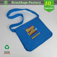 Reusable Custom non woven promotional shoulder bag fashion bag for school