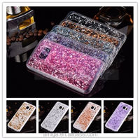 Glitter Clear Ultra Thin Crystal Transparent Rubber Plating TPU Soft Case Cover For Samsung S7/edge Phone Accessory