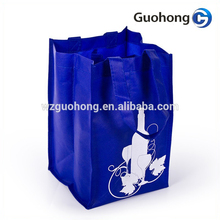 4 bottle non-woven wine tote bag with silk screen printing