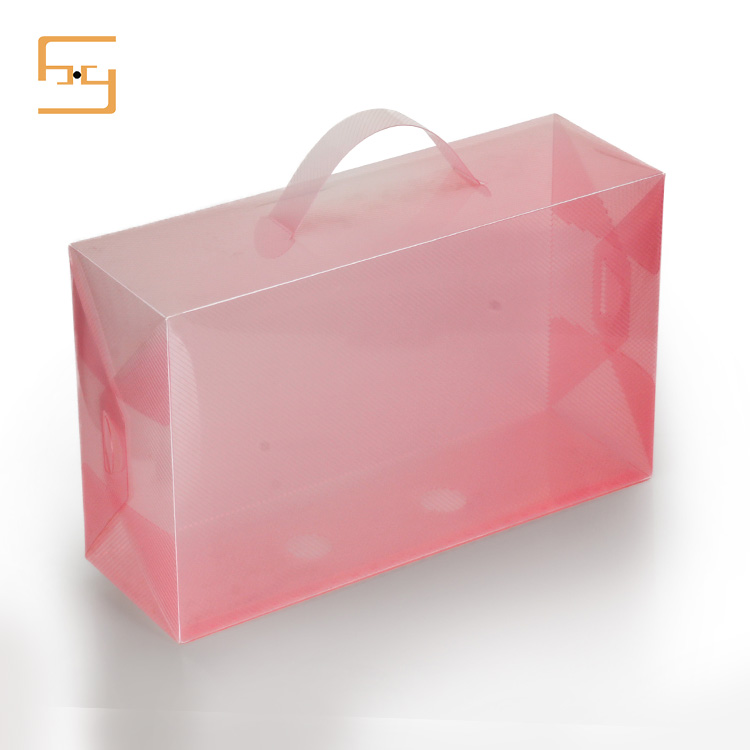 2017 Hot Plastic See Through Small Clear Plastic PVC Shoe Box