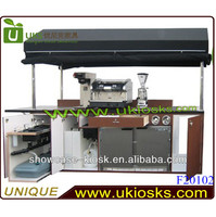 2014 mobile coffee cart soybean milk cart design retail coffee carts with machines
