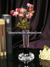 cheap glass vase/clear art glass vase/elegant crystal glass vase