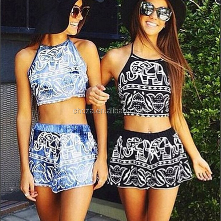 C20615B New Fashion Women Hot-selling Beach Dress Two Pieces Women Clothing