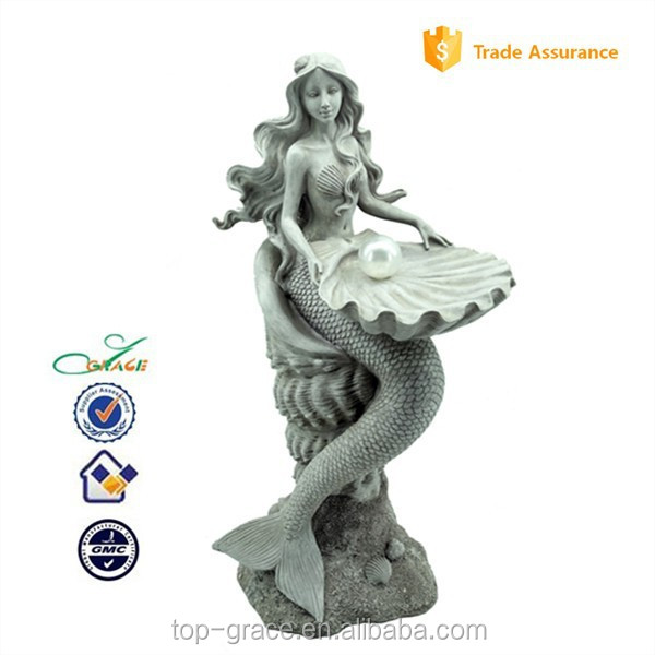 resin statue mermaid for home decoration