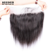New Arrival 10-26 Inch Brazilian Unprocessed Straight Hair Bundles With 13*4 Lace Closure