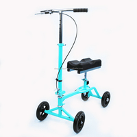 Foldable Physical Equipments Therapy Supplies disabled knee scooter steel knee walker