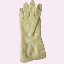cream color latex household gloves unlined kicthen cleaning gloves