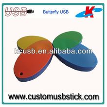 butterfly custom pvc usb stick
