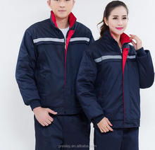 Men and women work clothes thick warm cold winter construction workwear cotton padded tooling repair workwear