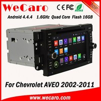 Wecaro WC-CU7011 Android 4.4.4 car dvd player touch screen for chevrolet aveo multimedia WIFI 3G GPS 2002 -2011