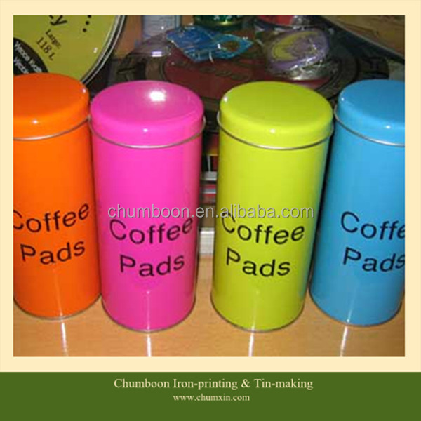 52*128mm round coffee cup pads tin can