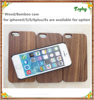 PC mobile phone cases walnut Wooden cell phone case Mobile phone shell for iPhone 6s 5s, accept paypal