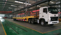CIMC 4 axle low price low bed truck trailer