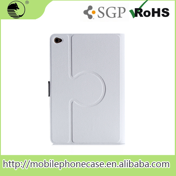 Factory Price Rotatable White PU+PC Bluk Cheap Stand Tablet Cover For ipad Mini 4 Tablet Case