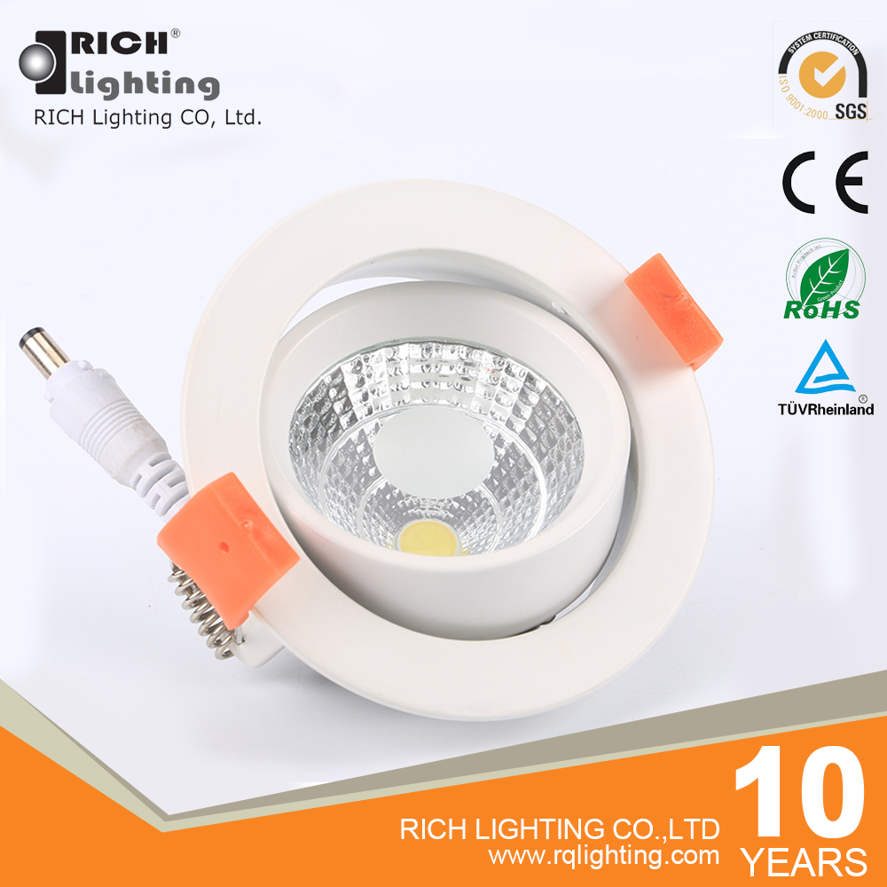Living room ceiling led spotlight 7W Ra> 80 led ceiling spot light CE RoHS certificate