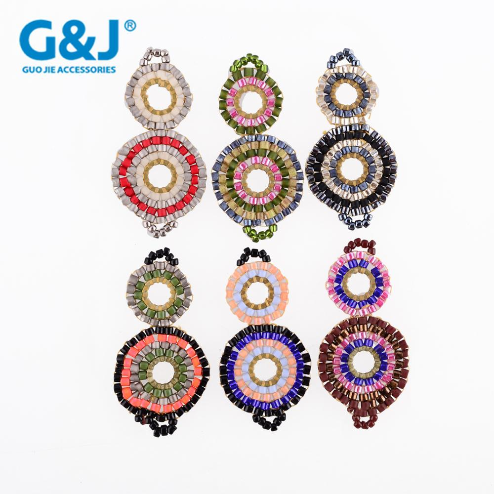 Guojie brand wholesale holiday decorative crystal DIY glass beads decoration accessories pendant