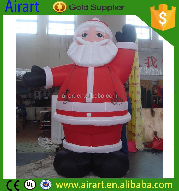outdoor christmas decorations life size inflatable christmas santa claus