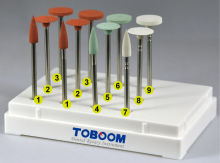 Toboom Orthodontic Dental Polisher Kit for Precious Metals Alloys
