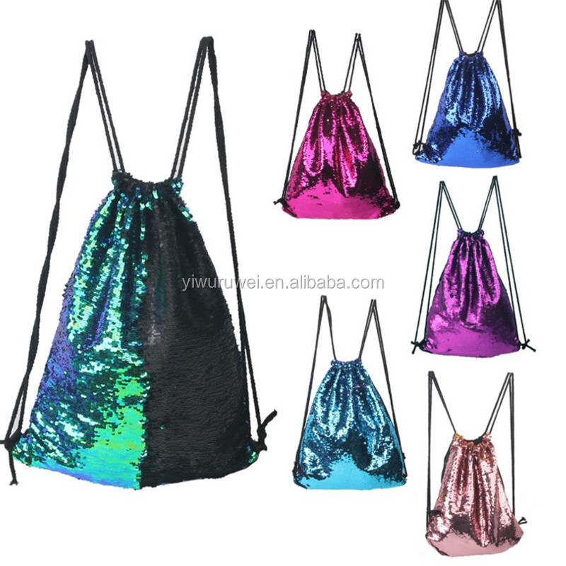 2017 new arrivel good quality outdoor spots backpack bag Mermaid Sequins Backpack