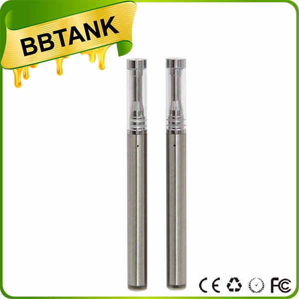 New Arrival 2017 disposable oil pen wickless ceramic coil glass BBtank T1 T2 vape pen