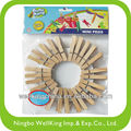 Natural mini clothspin/pegs 20pcs in bag for craft