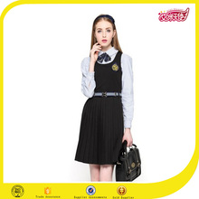 Britain style China wholesale high quality new fashion latest dress design picture for girl high school uniform